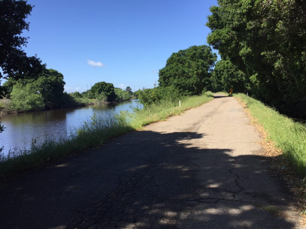 Cycling along the San Joaquin River in the heart of the Delta